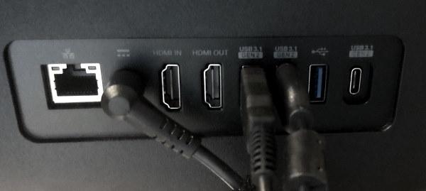 Photo of ports on back of Acer Asprire Z24-890-UA91