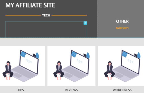 Affiliate free template home page