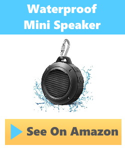 photo of inexpensive waterproof speaker