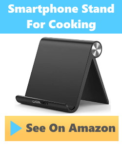 smartphone stand for cooking in kitchen