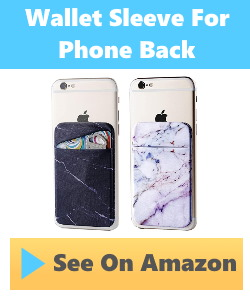 wallet sleeve that adheres to phone back.